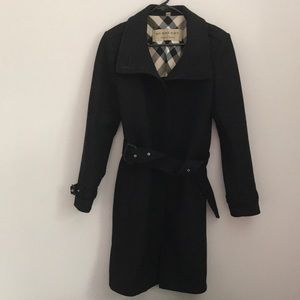 Burberry Belted Black Coat Preowned.